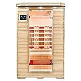 Home Deluxe - Infrarotkabine - Redsun M - Vollspektrumstrahler - Holz: Hemlocktanne - Maße: 120 x 105 x 190 cm - inkl. vielen Extras und komplettem Zubehör